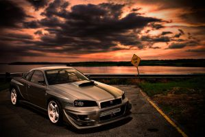 GTR R34 ROAD END by ROOF01