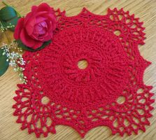 Antique Style 7 Inch Square High Texture Doily by doilydeas