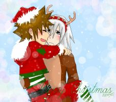 SoRiku XMAS by blehmunster