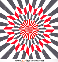 Star Optical Illusion Vintage Vector Art by 123freevectors