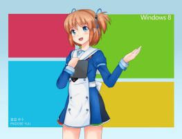 Madobe Yuu | Windows 8 OS-Tan by Ritsan115