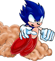 Sonic the Hedgehog Colored by Sonic140