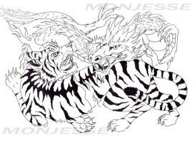 tiger and Dragon Flash by monjesse