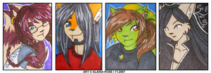 colored badges for lovelies by obliviousally
