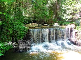 waterfall at king's dominion by loreleft27