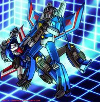 Tracks versus Thundercracker by Mentacle