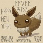 Pokeddexy31 - All-time Fave: #133 Eevee by Kouyukki