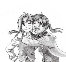 Edward and Alphonse Elric by coveredinthelotion