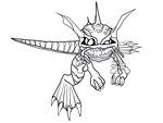 Curious oracle hatchling line art by crochetamommy