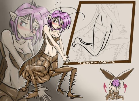 [CLOSED AUCTION] Roach girl by Tanuki-Adopts