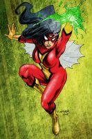 Spider-Woman (colored) by carverhouse