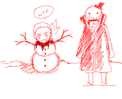 --+Hello Mr Snowman+-- by Marre-Chan95