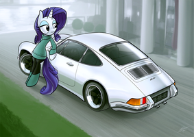 Rarity's Porsche by Dori-to