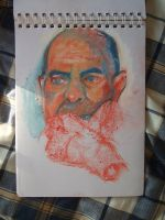 Oil Pastel Portrait by bemota