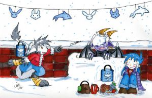 Winter Solstice Snowball Fight by raizy