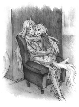 Mother and Daughter by Lapis-Razuri