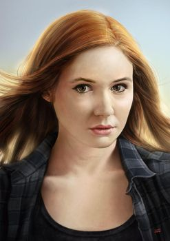 Docteur Who Amy Pond by Lun-art