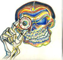 Heres lookin at u skully by john2dope