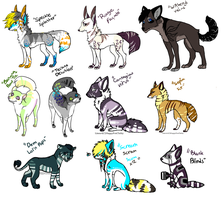 Fun Free Adopts.CLOSED. by HappyFoxChelsy