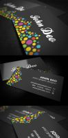Color Circles Business Cards by myjilson