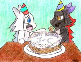 J-C's Birthday Cake by Wolf-Grr
