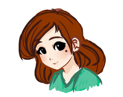 Daily Doodle - Human Roxanne by StarshineBeast