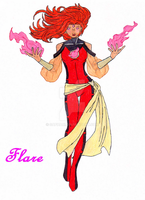Hero oc: Flare 2 by Saphari