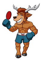 Fan Art - Animal Boxing - Heracles The Deer by XaR623