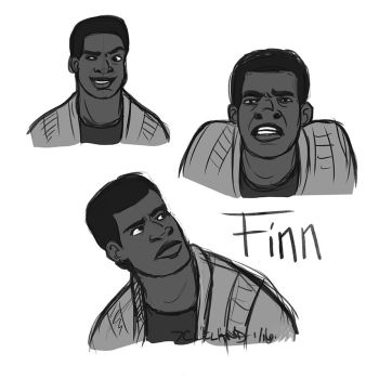 The Force Awakens - Finn by autumncoloredmelodie