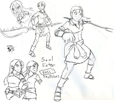 MA- Soul Eater Failed Sketches by athorment