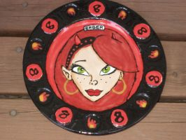 Zombie Girl Plate 08 Front by Gummibearboy