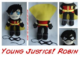 Young Justice Robin Plush by rosey-so-silly