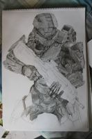 Master Chief Progress by StephenFisher