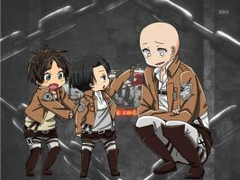 Eren x Levi x OC Base by Wolfness193