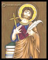 St Justin Martyr Icon by natamon
