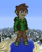 Minecraft Edd Statue by myvideogameworld