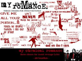 My Chemical Romance 20 brushes by Roohdarkmetalsuicide
