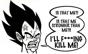 Vegeta mad at Vegeta by Berty-J-A