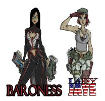 baroness and lady jaye by UndeadComics