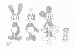 The Epic Mickey crew by JunetheFox9891