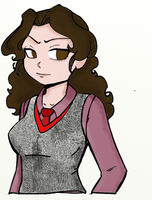 Hermione Granger Anime Style by Writer-Colorer