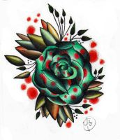 Freehand Spotted Rose by xpropaganda