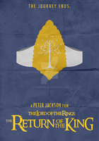 Lord Of The Rings: ROTK (2003) - Minimalist Poster by Stormy94