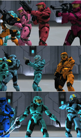 RvB Carolina's Team of Rejects by Dustiniz117