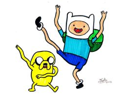 Finn and Jake by MelanieBrown