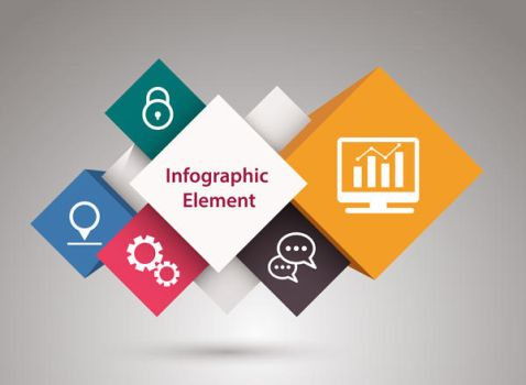 How to create elements of infographics - tutorial by lazunov