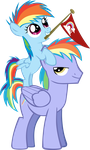 Rainbow Dash and her Dad by Jerick