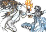 Raziel fighting hylden Janos by Idigoddpairings