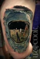 Liz-Cook-Tattoo-Color-Portrait-Buzz-Aldrin-Astrona by LizCookTattoo