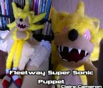 Fleetway Super Sonic Puppet by Vixen-T-Fox